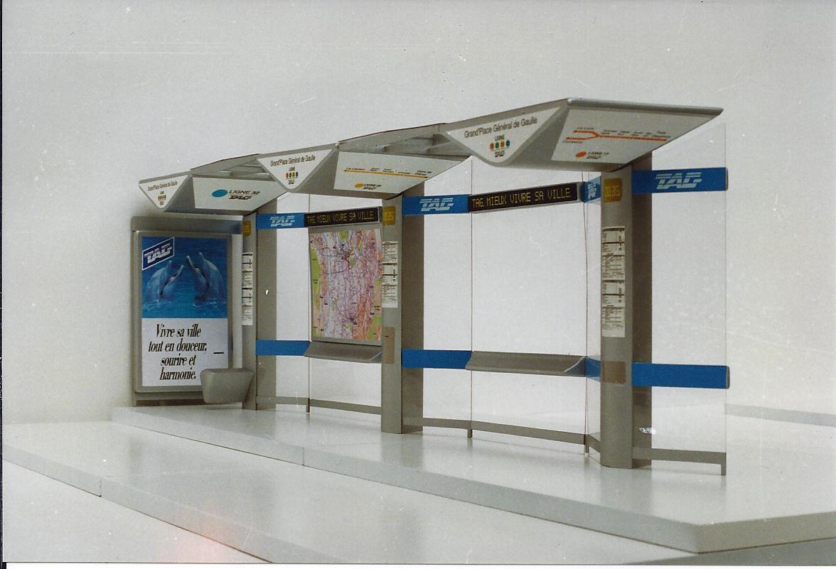 Modular bus stops, Grenoble by Johan Neerman