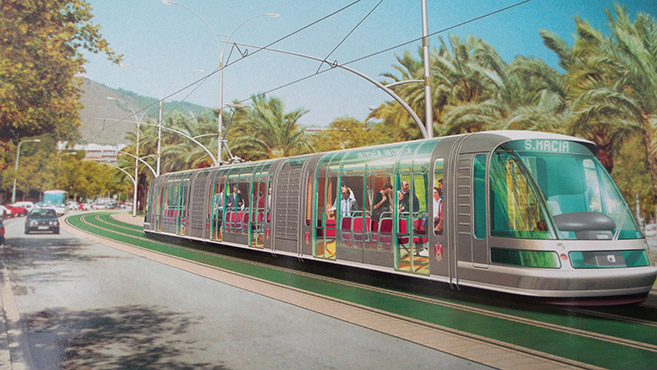 Tramway of Barcelona (1999) designed by Johan Neerman