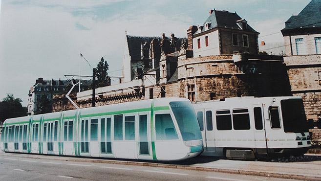 NANTES tram designed Johan Neerman