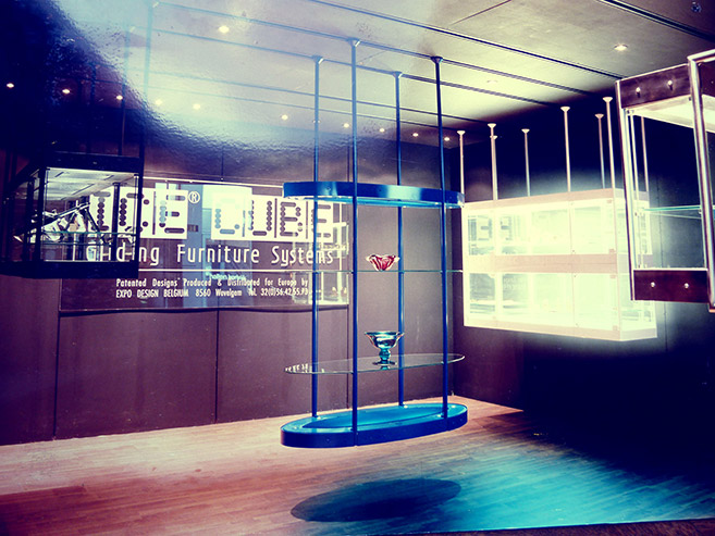 The Ice Cube series Display cases (1994) created by Johan Neerman