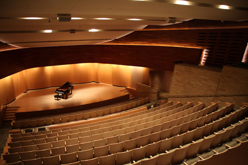 Musical instrument museum concert room by Johan Neerman
